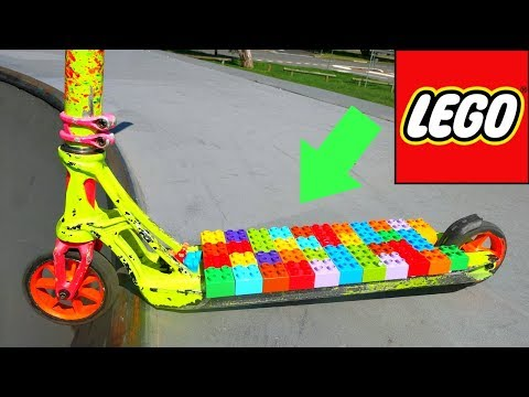 AMAZING LEGO GRIP TAPE ON SCOOTER!