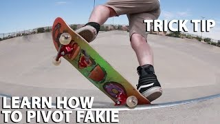 How to do a pivot fakie trick tip with Dane Jöhannsson