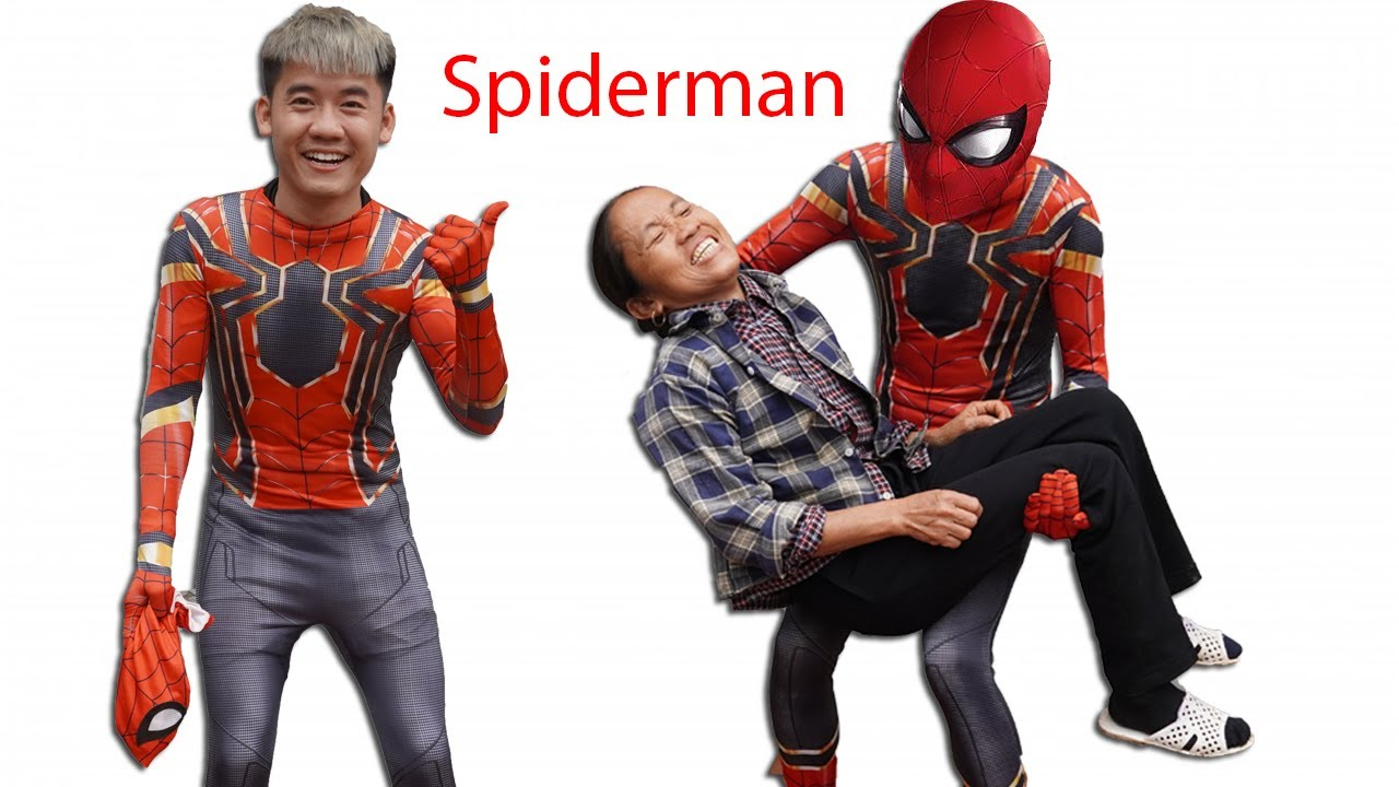 Hưng Vlog - Giả Làm Người Nhện Spiderman Troll Mẹ Bà Tân Vlog Và Cái Kết | Prank Mom