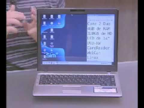"Notebook c/ Intel Core 2 Duo T6400 4GB 320GB DVD-RW Webcam 1.3MP 14"" Linux - SIM"