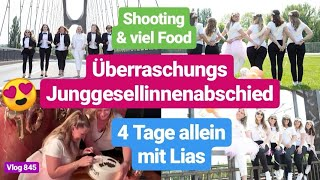 Überraschung Junggesellinnenabschied! Shooting, Food, OOTD l 4 Tage allein mit Lias l Vlog 845
