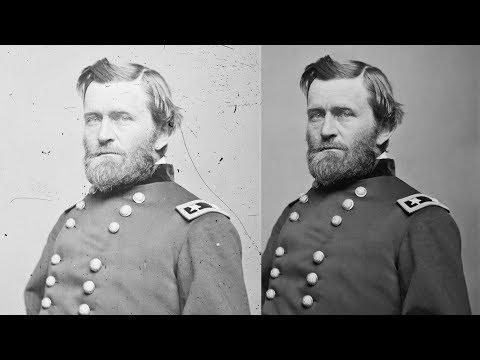 General Ulysses S. Grant, American Civil War [Photo Restoration - Marina Amaral]