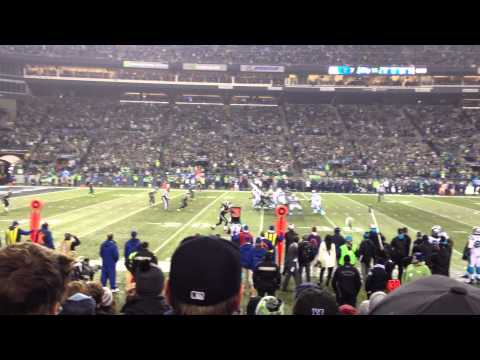 """""""Bam Bam"""" Kam Chancellor Big Hit on Mike Tolbert - NFC Playoffs Seahawks vs Panthers"""