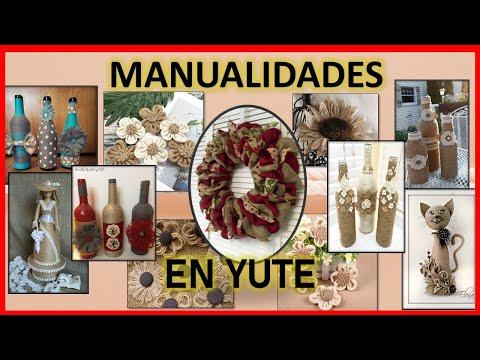 IDEAS DE MANUALIDADES CON YUTE ♥⭕ MANUALIDADES ARTE LUNA