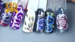 Дизайн ногтей в технике Китайская роспись, Жостово, Акаварель и презентация марафонов.