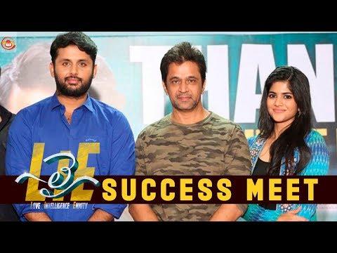 #LIE Movie Success Meet - Nithiin, Arjun, Megha Akash   Hanu Raghavapudi