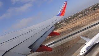 Southwest Airlines B737-8H4 KLAX 24L Takeoff