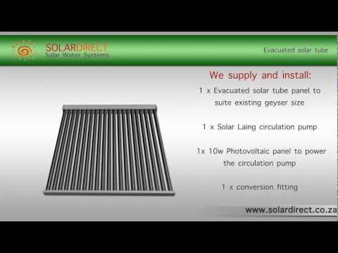 How Does a Solar Direct Evacuated Tube System work