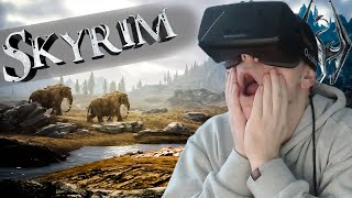 THE DRAGONS ARE IN MY FACE | Skyrim with the OCULUS RIFT