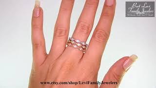 Stacking rings, Engagement ring, White gold ring, Diamond ring, Wedding ring, 10196