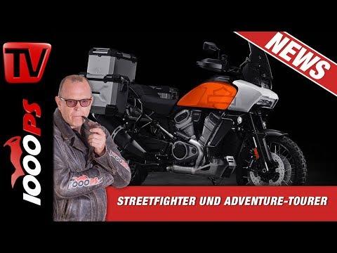 Harley-Davidson Reiseenduro und Streetfighter - News von der EICMA