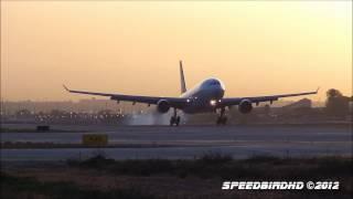 Video Qantas Airways Airbus A330-203 [VH-EBG] Landing in Los Angeles download MP3, 3GP, MP4, WEBM, AVI, FLV Juli 2018