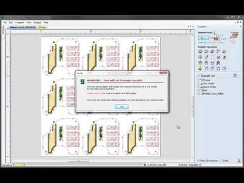 Vectric V8 Tutorials - Toolpath Admin and Time Estimate Guide