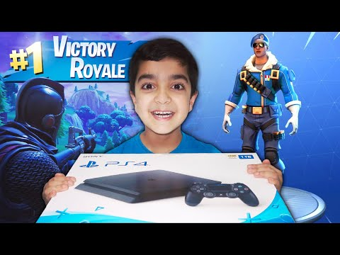 So If My 6 Year Old Little Brother Gets A Victory In FORTNITE, I Will Buy Him A Royale Bomber PS4!