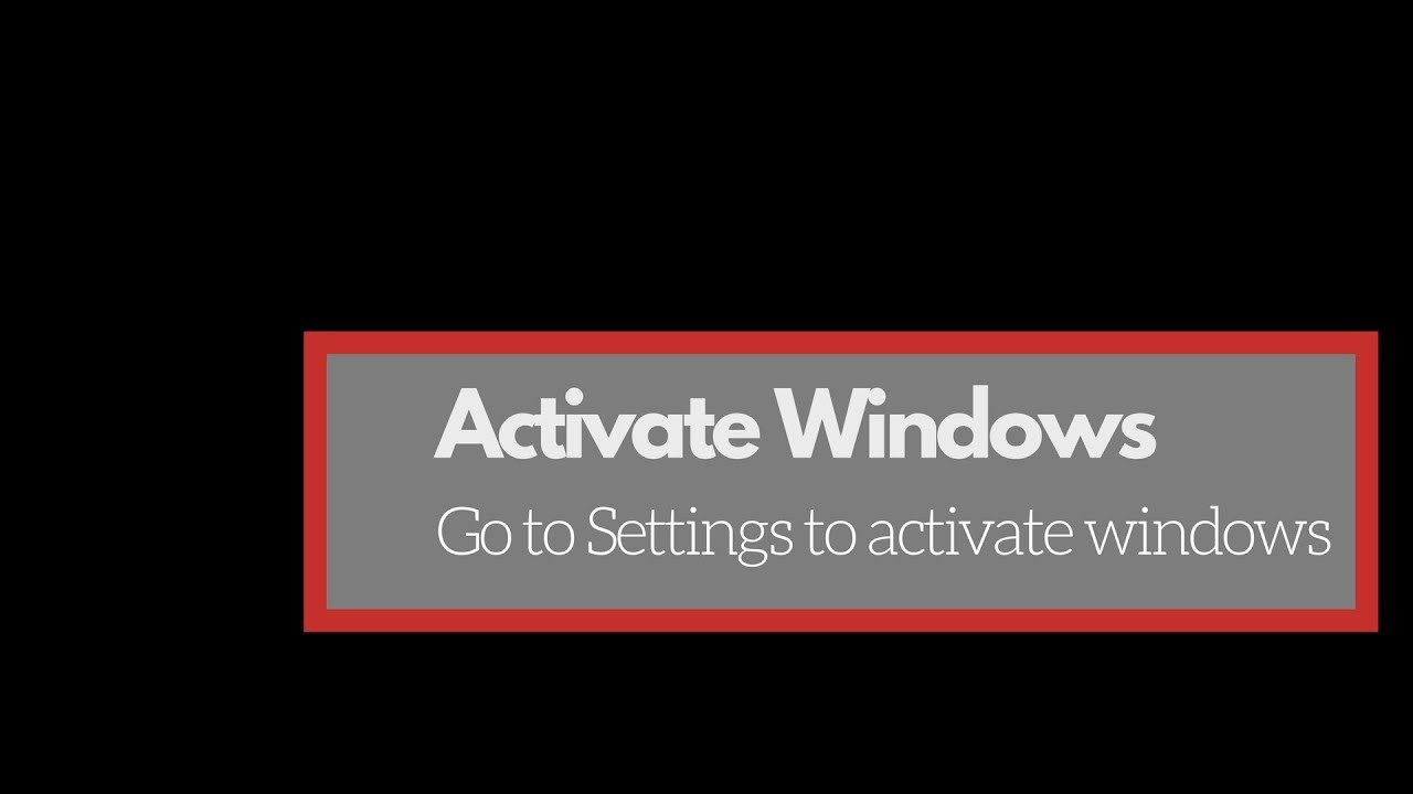 how to remove activate windows go to pc settings to activate windows watermark in windows 10
