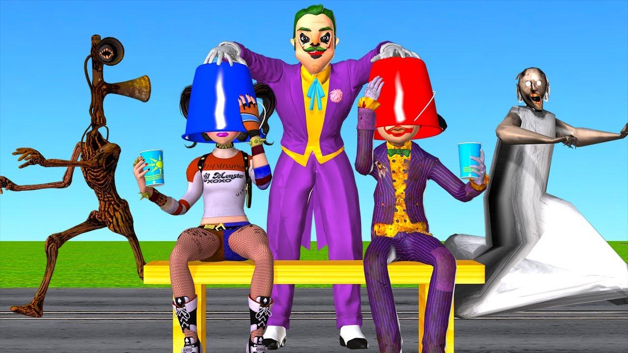 Scary Teacher 3D NeighborJoker Re-Troll NickJoker vs Tani Harley Quinn vs Miss T Love Scary Neighbor