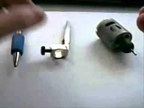 Homemade rotary tattoo machine youtube for How to make a home made tattoo machine
