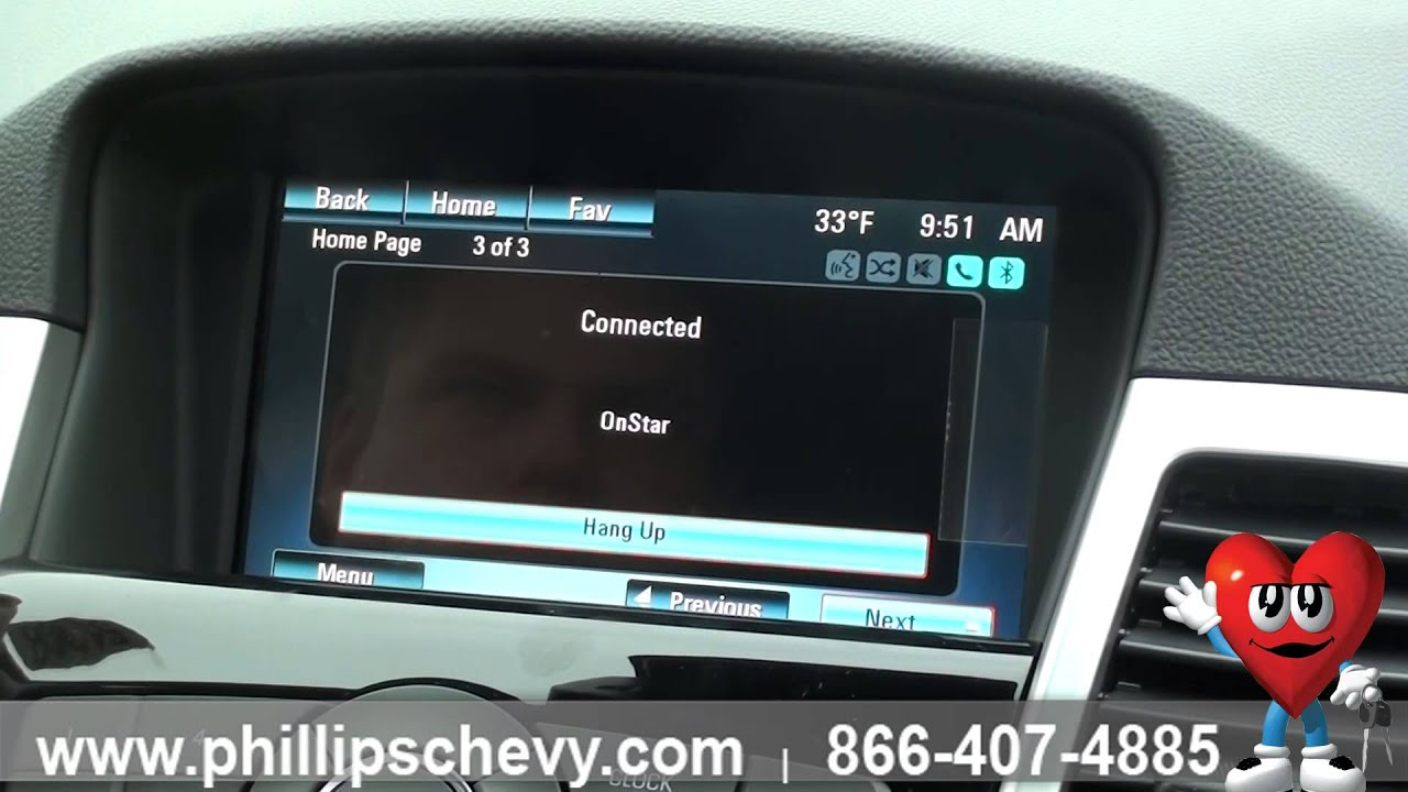 Phillips Chevrolet – 2015 Chevy Cruze – OnStar - Chicago Dealership New Car  Sales