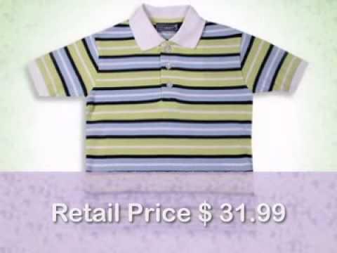 Kitestrings - Toddler Boys Short Sleeved Polo, Lime, Blue