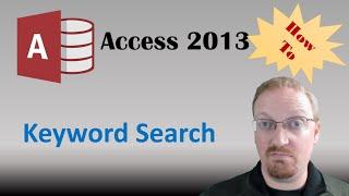 كيفية إنشاء كلمات البحث في الوصول 2013