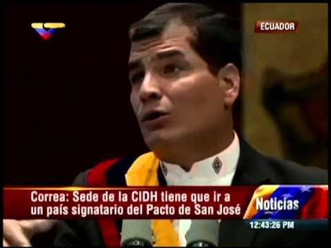 Discurso de Rafael Correa en la toma de posesión este 24 de mayo de 2013