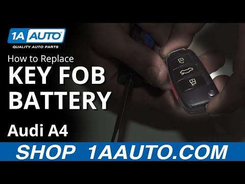 How to Replace Key FOB Battery 04-09 Audi A4