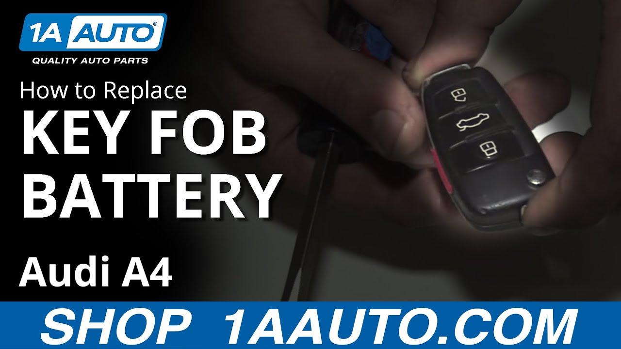 how to replace key fob battery 2007 audi a4 youtube. Black Bedroom Furniture Sets. Home Design Ideas