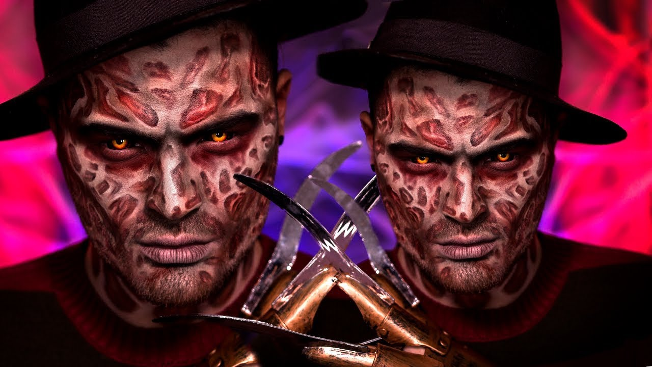 Freddy Krueger Halloween Makeup Tutorial - YouTube