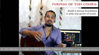 Introduction to Guitar - Lesson 1 with Seth Escalante - Free course on learning the Guitar