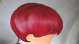 Venha aprender comigo como pintar cabelo púrpura