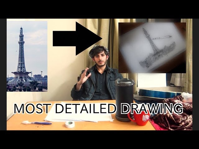 The Most Detailed Sketch Of Minar-e-Pakistan | VLOG 10