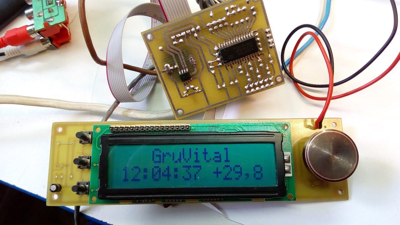 Цифровой темброблок на TDA7313, TDA7439, МК (PIC16F628A)