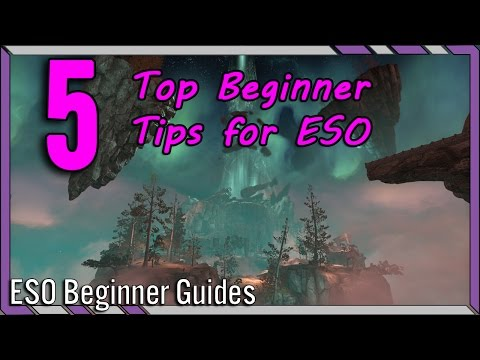 MissBizz's Top 5 Beginner Tips for Elder Scrolls Online! | ESO Top Beginner Tips