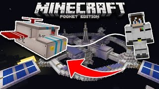 FLY TO SPACE in MCPE!! Minecraft Pocket Edition (Spaceship Addon)