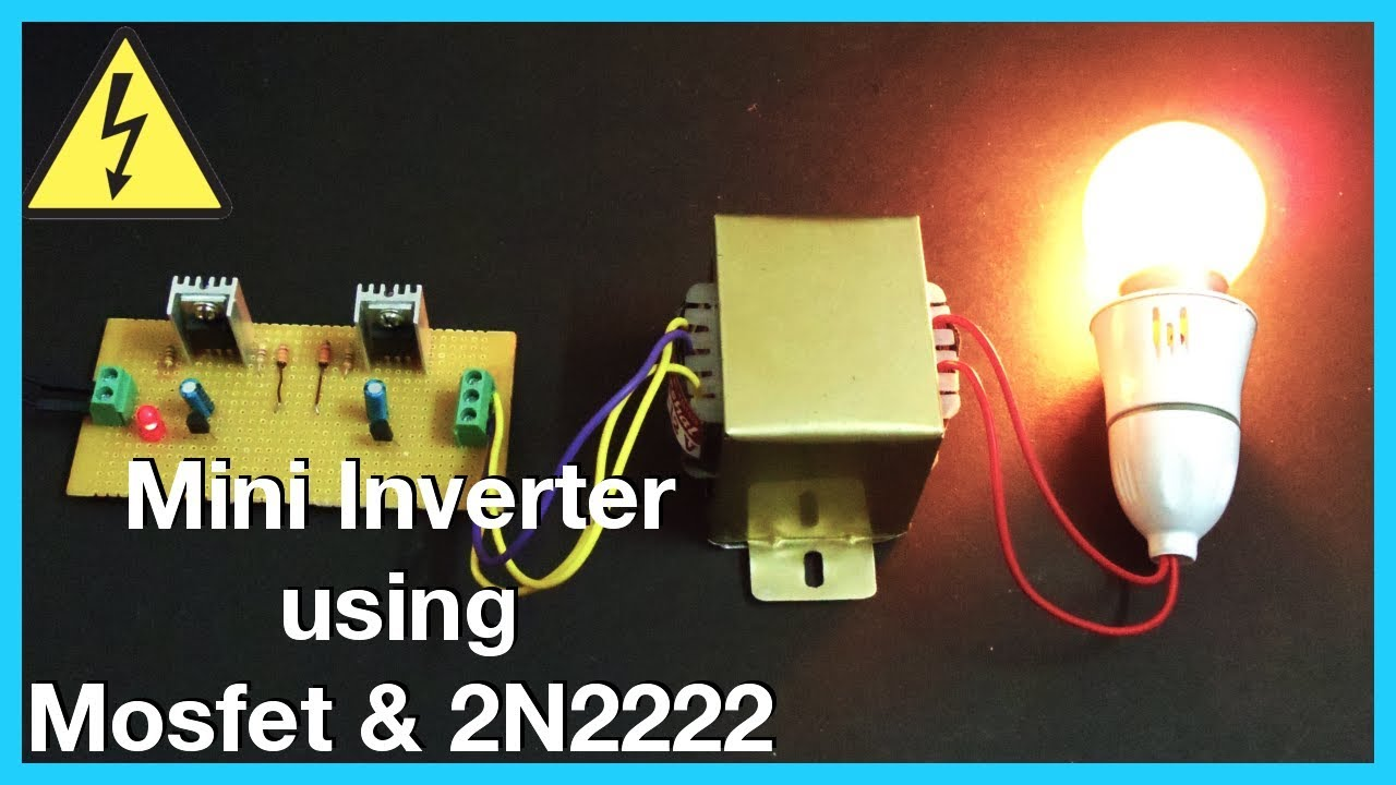 Simple 12v To 240v Mini Inverter Using Mosfet 2n2222 Homemade For Cut 40 Plasma Cutter Circuit Board Pc 220v