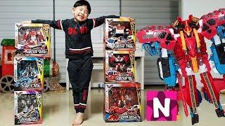 뉴욕이의 또봇V 변신 로봇 장난감 합체 놀이 NY Pretend Play with Tobot V Toys Robot Transformers