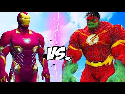 IRON MAN VS FLASH - HULK