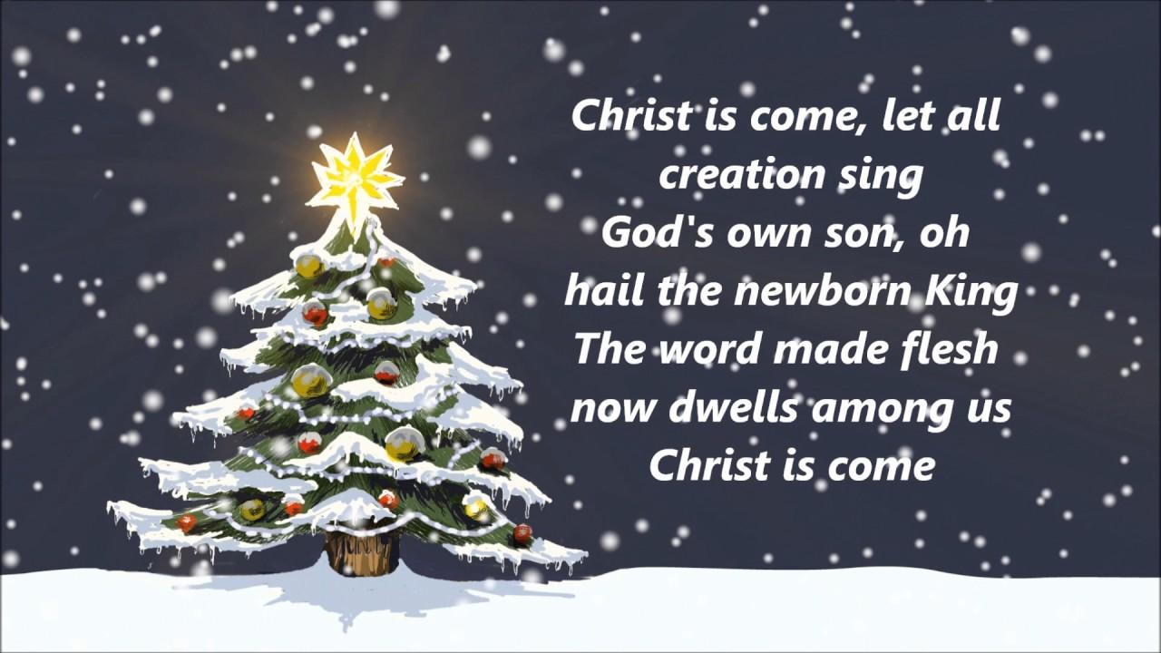 Big Daddy Weave - Christ Is Come (Lyrics) - YouTube