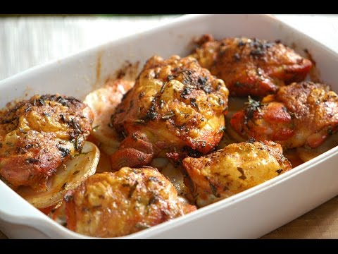 How to cook marinated chicken breast pieces in the oven