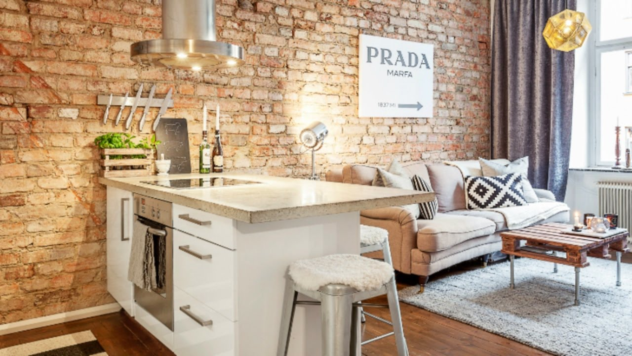& Industrial Small Apartment #4 Interior Design - YouTube