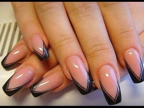 Фото серо розовых ногтей 71