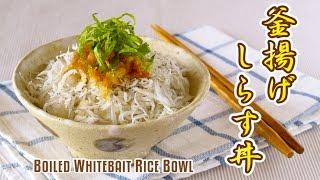 Boiled Whitebait Rice Bowl (Kamaage Shirasu Don / Donburi) 釜揚げしらす丼 - OCHIKERON - CREATE EAT HAPPY thumbnail