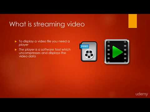 Web Video Editing and Production (Camtasia, PPT, Audacity) : Video Streaming