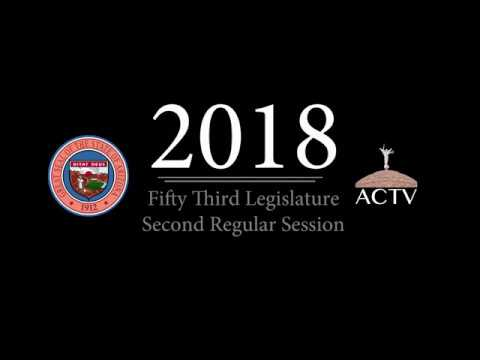 2018 - The Fifty-Fifth Legislature - Second Regular Session