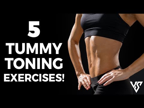 HOW TO FLATTEN YOUR STOMACH (5 Tummy Toning Exercises)