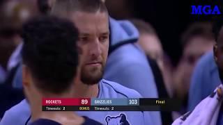 Houston Rockets vs Memphis Grizzlies - Game Highlights - October 28, 2017