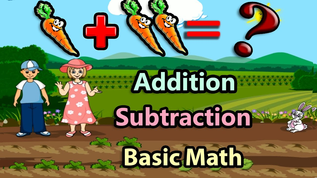 Basic Math For Kids Addition and Subtraction Science games