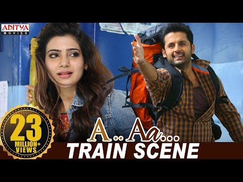 A Aa Scenes || Samantha Nithiin Train Scene | Nithiin, Samantha | A Aa (Hindi Dubbed Movie)