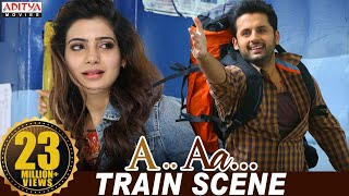 A Aa Scenes || Samantha Nithiin Train Scene | Nithiin, Samantha | A Aa (Hindi Dubbed Movie)