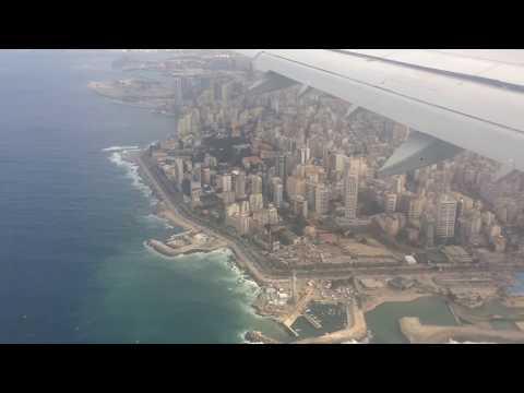 Approach into Beirut–Rafic Hariri International Airport  مطار بيروت رفيق الحريري الدولي